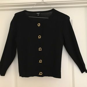 Black dressy cardigan sweater
